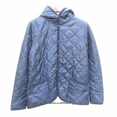【中古】スモックショップ THE SMOCK SHOP キルティングジャケット 中綿 裏ボア XS 紺 ネイビー /YK メンズ