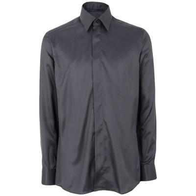 UNGARO シャツ スチールグレー 39 ポリエステル 100% シャツ