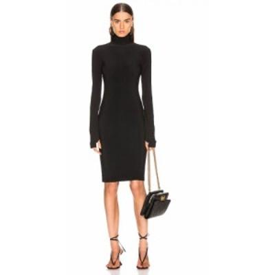 ノーマ カマリ Norma Kamali レディース ワンピース ワンピース・ドレス Slim Fit Turtleneck Dress Black
