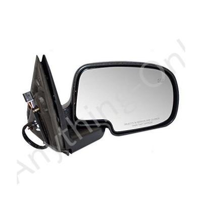 【新品】Brock Replacement Passenger Power Side Door Mirror Heated Chrome Cap Compatible with 1999-2002 Silverado Sierra Pickup Truck