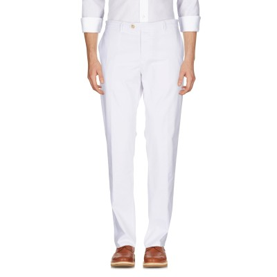 オークス OAKS パンツ ホワイト 38 麻 50% / コットン 47% / ポリウレタン 3% パンツ