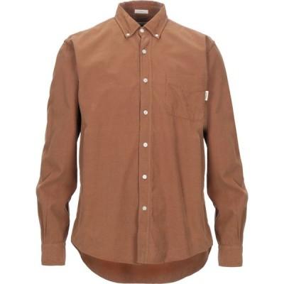 ロイロジャース ROY ROGER'S メンズ シャツ トップス solid color shirt Brown