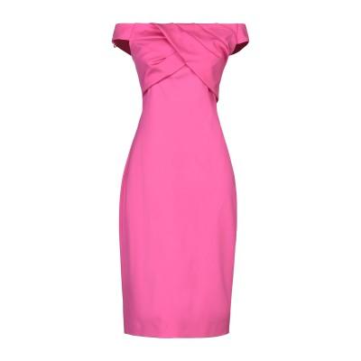 ブルマリン BLUMARINE ミニワンピース&ドレス フューシャ 44 レーヨン 65% / ナイロン 30% / ポリウレタン 5% ミニワンピ