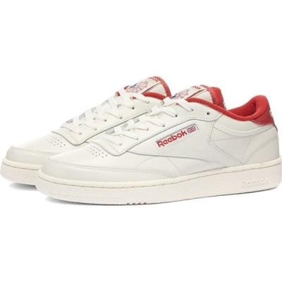 リーボック Reebok メンズ スニーカー シューズ・靴 Club C 85 Chalk/Mars Red