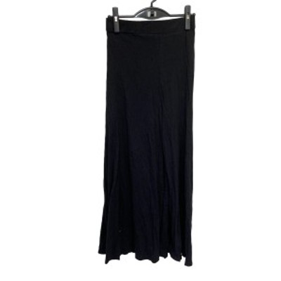 ジェームスパース JAMES PERSE ロングスカート サイズ0 XS レディース - 黒 マキシ丈/ウエストゴム【中古】20210406