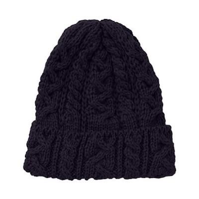 (ハイランド2000)Highland 2000 ニット帽 British Wool Cable Bobcap (ネイビー Free Size)