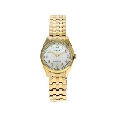 タイメックス Briarwood Mother of Pearl 27mm Expansion Band Watch レディース 腕時計 時計 ファッションウォッチ Gold-Tone