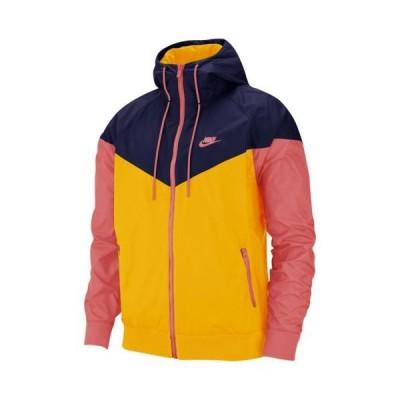 (取寄)ナイキ メンズ ウインドランナー フーデット ジャケット Nike Men's Windrunner Hooded Jacket University Gold Blue Void Magic Ember