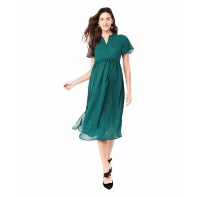 ロイヤル ハナ ワンピース トップス レディース Lily Maternity Dress Green Leopard