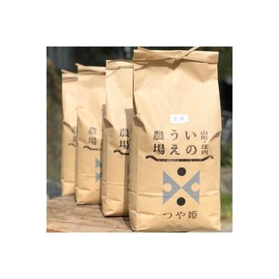 鶴岡市 ふるさと納税 【令和2年産】井上農場のつや姫【玄米】20kg(5kg×4袋)