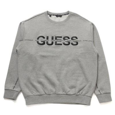 ゲス GUESS Unisex Logo Sweat (MELANGE GREY)