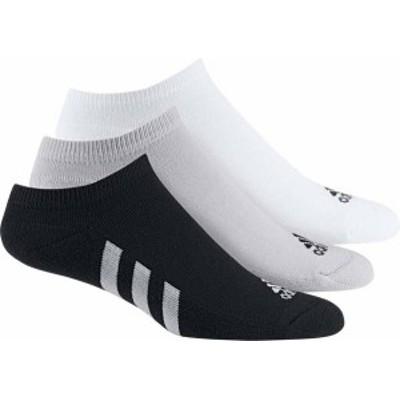 アディダス メンズ 靴下 アンダーウェア adidas Men's No Show Golf Socks 3 pack Black/White/Grey