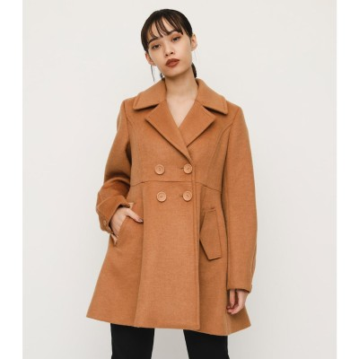 BIG COLLAR FLARE COAT CAM