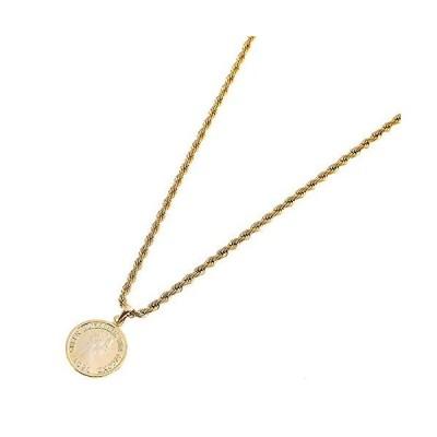入浴時でも外すことなく使える コイン ネックレス SOPHIE エリザベス ゴールド フレンチロープ ステンレス 細め 50cm 2mm