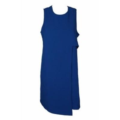 Karen Kane カレンケーン ファッション ドレス Karen Kane Cobalt Blue Sleeveless Asymmetric Shift Dress M