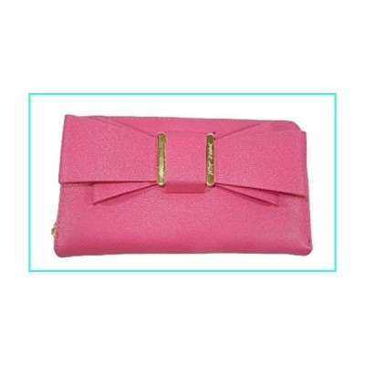【新品】Betsey Johnson Wallet Fuchsia with Big Bow(並行輸入品)