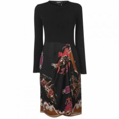 ダナ キャラン ニューヨーク DKNY レディース ワンピース ワンピース・ドレス Long Sleeve Crew Neck Dress Multi