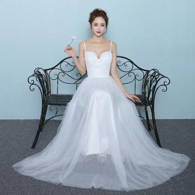 ウェディングドレス 安い aラインドレス ウエディングドレス 二次会 花嫁 パーティードレス 披露宴 ブライダル 結婚式 ロングドレス 演奏会 白 大きいサイズ