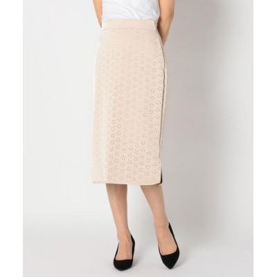 【ミューズ リファインド クローズ】 パンチングエコレザータイトスカート レディース アイボリー M MEW'S REFINED CLOTHES