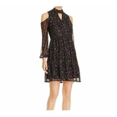Lysse リジー ファッション ドレス LYSSE NEW Black Womens Small S Floral Ruched A-Line Boho Lace Dress