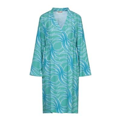 MAESTA ミニワンピース&ドレス グリーン 42 PES - ポリエーテルサルフォン 100% ミニワンピース&ドレス