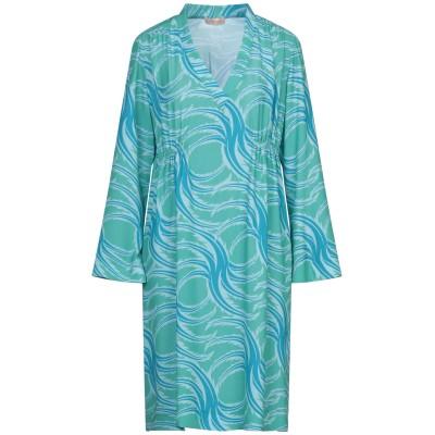 MAESTA ミニワンピース&ドレス グリーン 50 PES - ポリエーテルサルフォン 100% ミニワンピース&ドレス