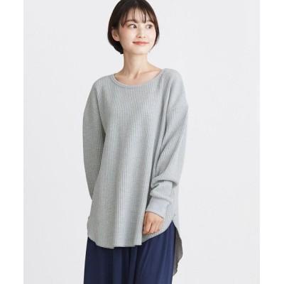 【HAPPY急便 by VERITA.JP】 BIGワッフルカットソー レディース グレー 【M】 HAPPY EXP