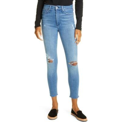 ラグ&ボーン RAG & BONE レディース ジーンズ・デニム リップドジーンズ ボトムス・パンツ Nina Ripped High Waist Ankle Skinny Jeans Aviation Way