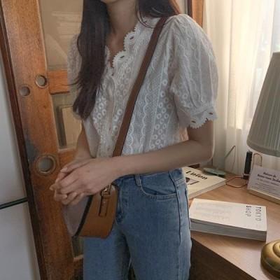 HEYLADY レディース ブラウス Meringue lace blouse