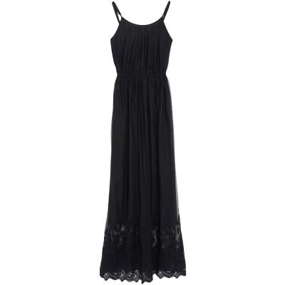 シルビアンヒーチ SILVIAN HEACH ロングワンピース&ドレス ブラック XXS ポリエステル 100% ロングワンピース&ドレス