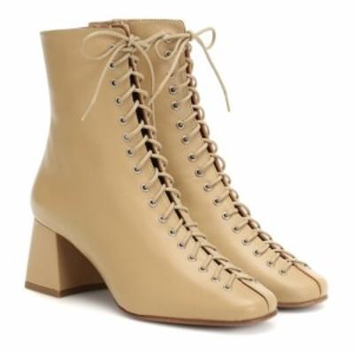 バイ ファー By Far レディース ブーツ ショートブーツ シューズ・靴 Becca leather ankle boots Cream
