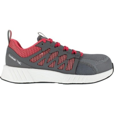 リーボック スニーカー シューズ レディース Reebok Women's Fusion Flexweave FloatRide Energy Athletic Work Shoes Gray/Light Red