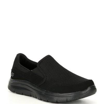 スケッチャーズ メンズ スリッポン・ローファー シューズ Men's Work Relaxed Fit Flex Advantage-McAllen Slip Resistant Sneakers