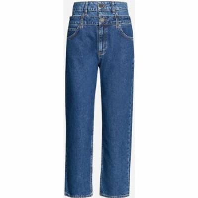 サンドロ SANDRO レディース ジーンズ・デニム ボトムス・パンツ High-rise double-layer jeans BLUE