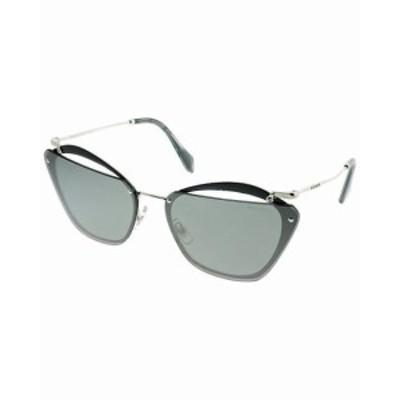 Frame フレーム ファッション サングラス MIU MIU SMU54T KJW-7W1 Sunglasses Grey Silver Frame Grey Silver Mirror 64mm