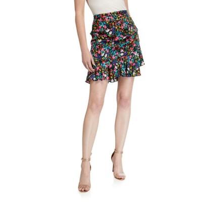 ミリー レディース スカート ボトムス Aliza Garden Floral Stretch Silk Skirt