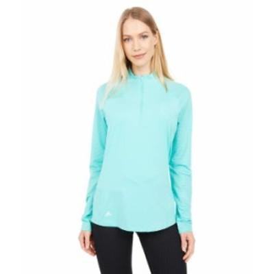 アディダス レディース シャツ トップス UV Primegreen Long Sleeve Polo Shirt Acid Mint
