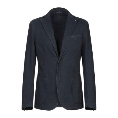 BERNESE Milano テーラードジャケット ダークブルー 46 コットン 98% / ポリウレタン 2% テーラードジャケット