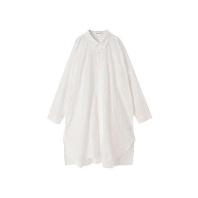 <Plantation(Women)/プランテーション> シャーリングコットンチュニックシャツ white(01)【三越伊勢丹/公式】