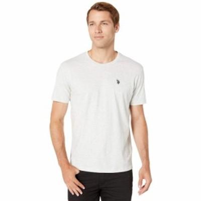 ユーエスポロアッスン U.S. POLO ASSN. メンズ Tシャツ トップス Crew Neck Small Pony T-Shirt Light Heather Gray
