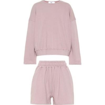 フランキー ショップ Frankie Shop レディース スウェット・トレーナー トップス Jaimie Sweatshirt And Shorts Set Orchid
