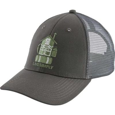 パタゴニア Patagonia メンズ キャップ トラッカーハット 帽子 Live Simply Home LoPro Trucker Hat Forge Grey