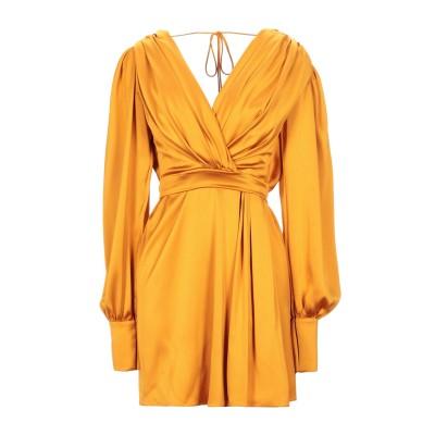 RHEA COSTA ミニワンピース&ドレス オレンジ 40 レーヨン 75% / シルク 25% ミニワンピース&ドレス