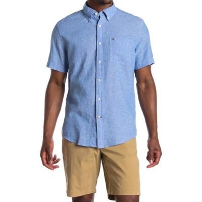 トミー ヒルフィガー メンズ シャツ トップス Peters Short Sleeve Regular Fit Shirt REGATTA