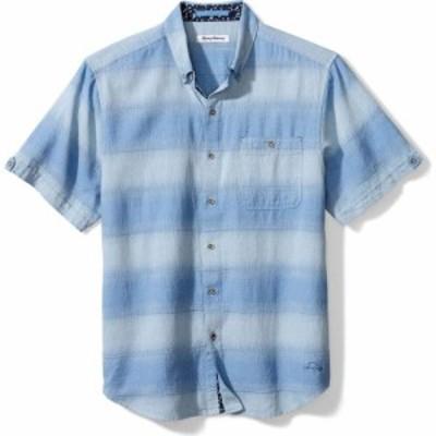トミー バハマ TOMMY BAHAMA メンズ 半袖シャツ トップス Ocean Fade Short Sleeve Button-Down Shirt Buccaneer Blue