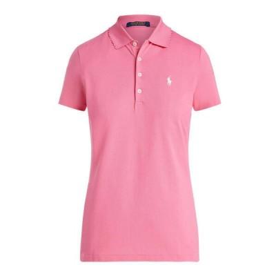 ポロシャツ テーラード フィット スカラップド ゴルフ ポロシャツ