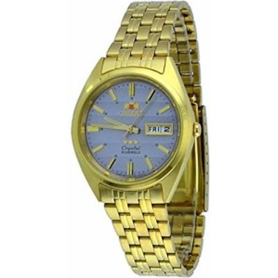 腕時計 オリエント メンズ Orient #FAB00008K Men's 3 Star Standard Gold Tone Grey Dial Automatic Watc