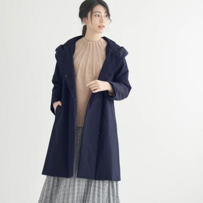 ステッチレス中わたフーデッドコート【蓄熱保温・防風・撥水】