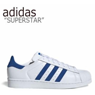 アディダス スーパースター スニーカー adidas メンズ レディース SUPERSTAR スーパースター ホワイト ブルー EE8595 シューズ