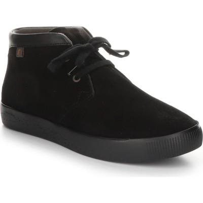 フライロンドン SOFTINOS BY FLY LONDON レディース ブーツ シューズ・靴 London Fly Leather Sial Bootie Black Leather